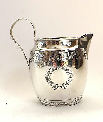 Jug Silver Georgian Solid Sterling Silver Floral Frieze Nathaniel Smith c1808