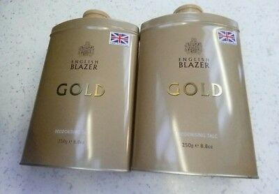 Blazer Gold Mens Deodorising Talc 2 X 250G £9.99 Free P&p!!! Plus Another Free