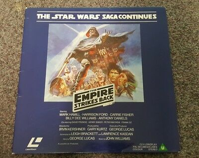 """Star Wars """"the Empire Strikes Back"""" Laservision Disc - Very Rare"""
