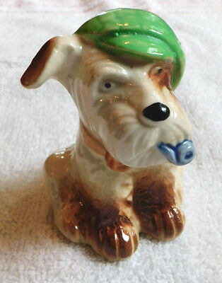 Vintage Ceramic Scottish Terrier with Tam, Occupied Japan