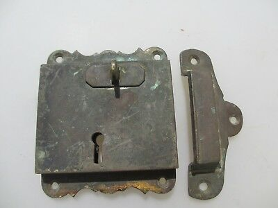 "Georgian Brass Door Lock Keep Antique Victorian Old Sri Lanka Colonial ""Galle"""