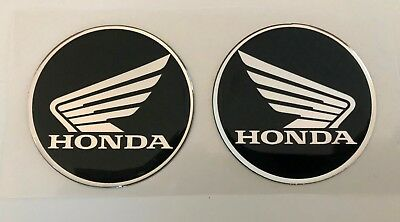 2pcs x Honda logo. Domed 3D Stickers/Decals. Diameter 60mm.