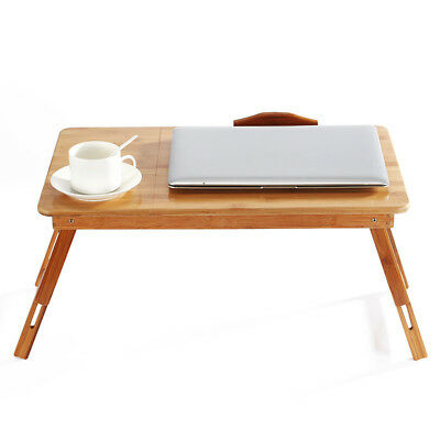 Portable Folding Bamboo Laptop Table Sofa Bed Laptop Stand Desk Computer Table
