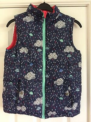 Fat Face Girls Reversible Gillet Jacket Age 10-11 - great quality