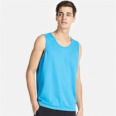 4ffe34ec236c4c UNIQLO Dry-Ex Sleeveless T-Shirt   Tank Top Men s S Fitness BLUE Mesh
