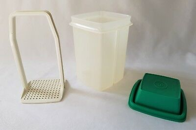 Vintage C1970's Green Tupperware Beetroot Container / Server - Complete