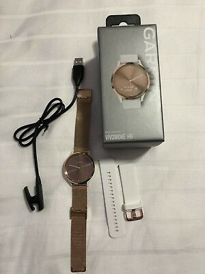Garmin Vivomove HR Sport (S/M) - Rose Gold with Two Bands