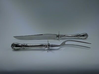 2 pc Carving Set W/Sterling Guard Old Master (Sterling,1942) by TOWLE KSLCCS