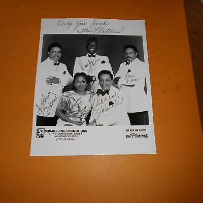 The Platters is an American vocal group formed in 1952 x 5 Hand Signed Photo