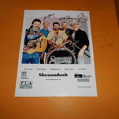 Shenandoah is an American country music group founded in Muscl Hand Signed Photo