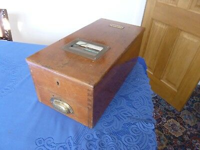Large Antique Collectable Mahogany Wood Shop Till Gledhill Cash Register Drawer