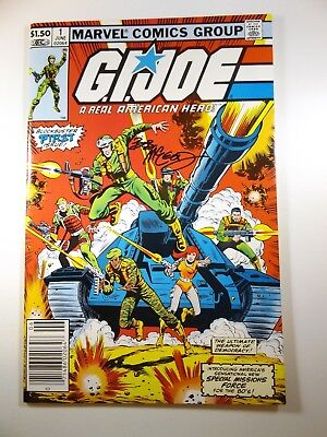 G.I.Joe #1 From Marvel Comics Con Signed By Bob McLeod Sharp VF-NM Condition!!