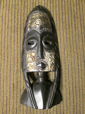 Wooden wall mask from Ghana / Africa (#103)