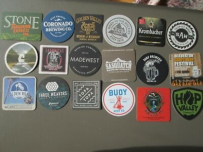 Lot 2 - 18 Different Beer Coasters