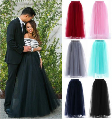 New 4 Layers Long Wedding Skirt Women Maxi Vintage Petticoat Daily Skirt