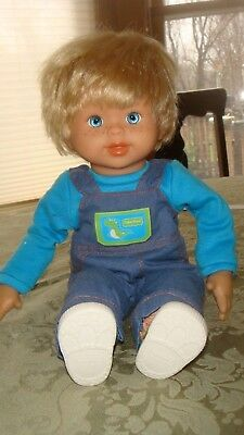 Fisher-Price Little Mommy Interactive Baby Knows Doll English Spanish Boy Doll