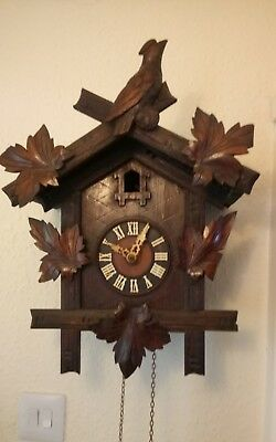 antique cuckoo clock GHS spares or repairs Gordian Hettiche and sonne