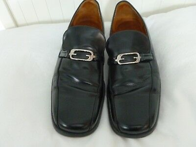 334d7cfed MENS BLACK GUCCI Leather Dress Loafers Shoes Size 9 D Made in Italy ...