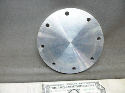 """NO NAME 6"""" x 1/2"""" 8 ALUMINUM HOLE FLANGE BLANK- NO O-RING GROOVE SOLID FACES"""