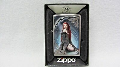 Zippo Lighter Anne Stokes Summon The Reaper Collection New!