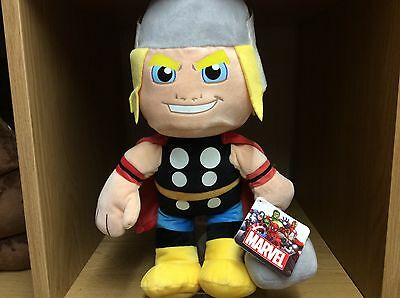 "Bnwt Marvel Hero Thor Large Soft Toy 12"" / 30Cm"