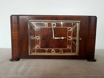 Rare Wurttemberg Art Deco Multi Chime Mantle Clock Westminster Whittington