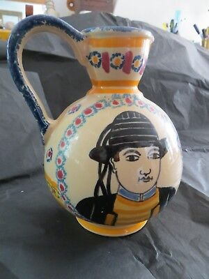 HENRIOT QUIMPER JUG 1930s. Folk Art. French. Brittany. Excellent Condition