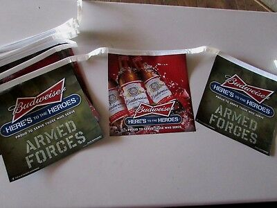 30' Budweiser Armed Forces Beer Banner Army Air Force Marines Navy Military T28