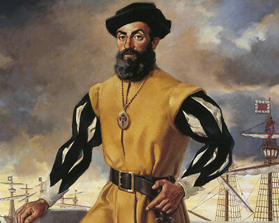 Porturguese Explorer FERDINAND MAGELLAN Glossy 8x10 Photo Painting Print Poster