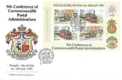 1/7/1991 9th CONFERENCE OF COMMONWEALTH POSTAL ADMINISTRATIONS MS FDC