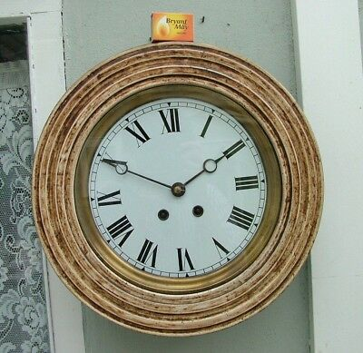 "Antique French Octagonal Striking Wall Clock 8 Day Vincenti Movement Sold ""Af"""