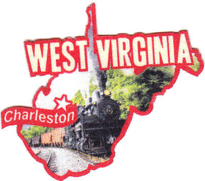 CHARLESTON WEST VIRGINIA State Capitol City Iron On Printed Patch