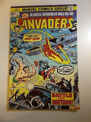 "The Invaders #1 ""Battle over Britain!"" Sharp VF-NM Condition!!  MVS Intact!!"