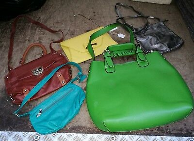 ~Ladies Handbags ~Job Lot of 5 Handbags ~Some Leather~ VGC~