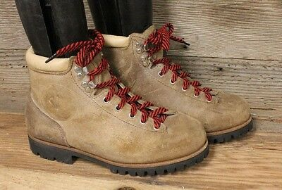 Vasque Vintage Mens Light Brown Leather Hiking/mountaineering Boots Sz 7.5D