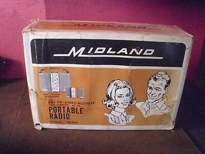 Vintage Midland Am/fm Stereo Radio Original Box, Units Are Factory Sealed