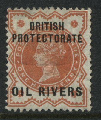 Oil Rivers QV 1892 1/2d Jubilee overprinted mint o.g.