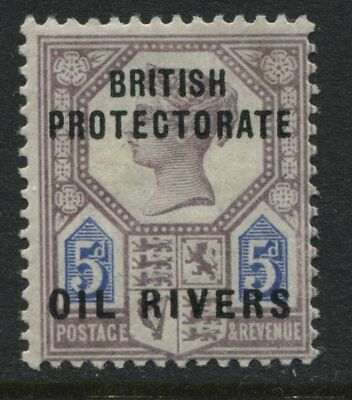Oil Rivers QV 1892 5d Jubilee overprinted mint o.g.