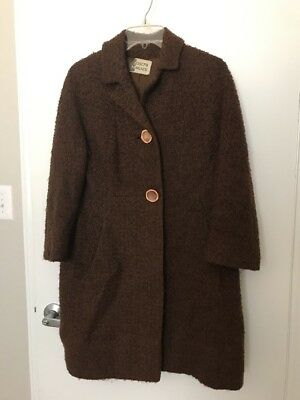 Vintage JOSEPH MAGNIN Brown Wool Coat