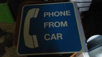 Metal phone sign doublesided bracket already attached.