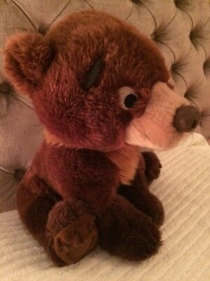 """Disney Brown Bear From Brother Bear Film, Floppy Koda, 13"""" Tall, Great Condition"""