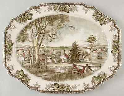 """Johnson Brothers THE FRIENDLY VILLAGE 20"""" Oval Serving Platter 276955"""
