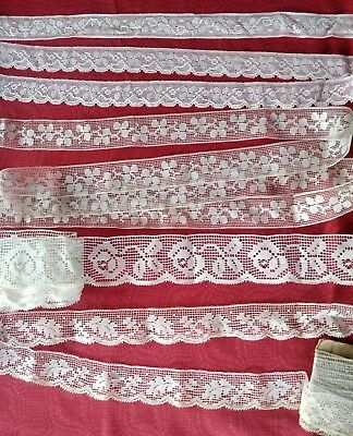 5  wide  Antique French Filet lace Val Vintage LOT trim almost 9 yards