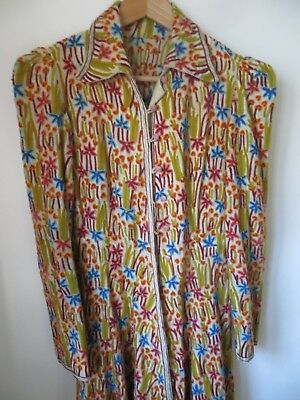 Rare True Vintage Embroidered Long Coat, VGC, 10/12 approx, 1930s/1970s