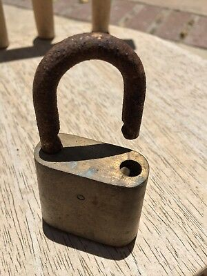 Weathered PADLOCK rusty vintage rustic garden decor