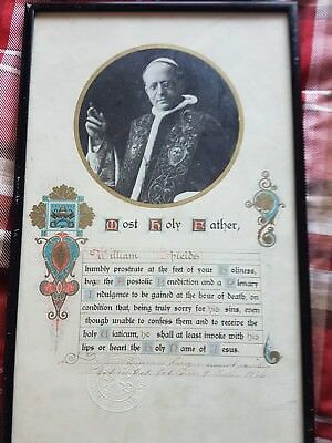 Framed Religious Catholic Letter With Verse