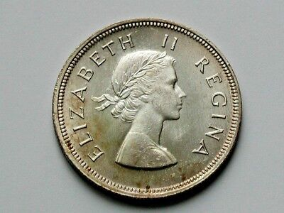 South Africa 1953 HALF CROWN (2-1/2 Shilling) Coin UNC with Premium Matte Lustre