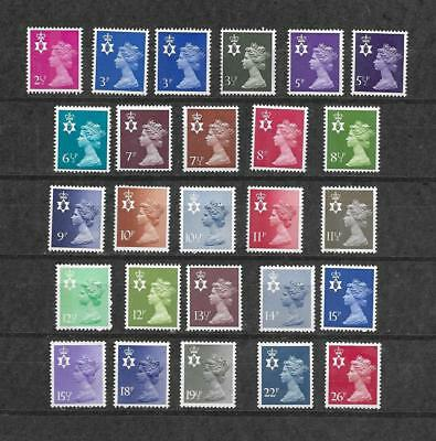 1971/93 Qeii Northern Ireland Excellent Selection Of 26 Nmh Different Stamps