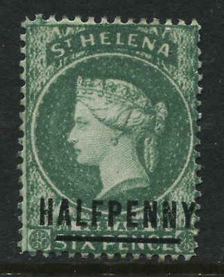 St.Helena QV 1884 1/2d on 6d green unused no gum