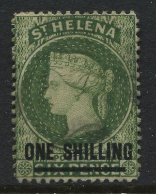 St.Helena QV 1883 1/ on 6d yellow green unused no gum